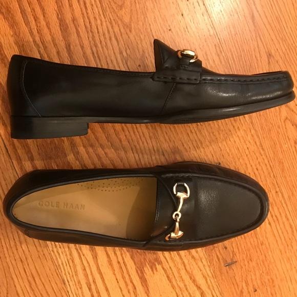 Euc Cole Haan Horsebit Loafer Black